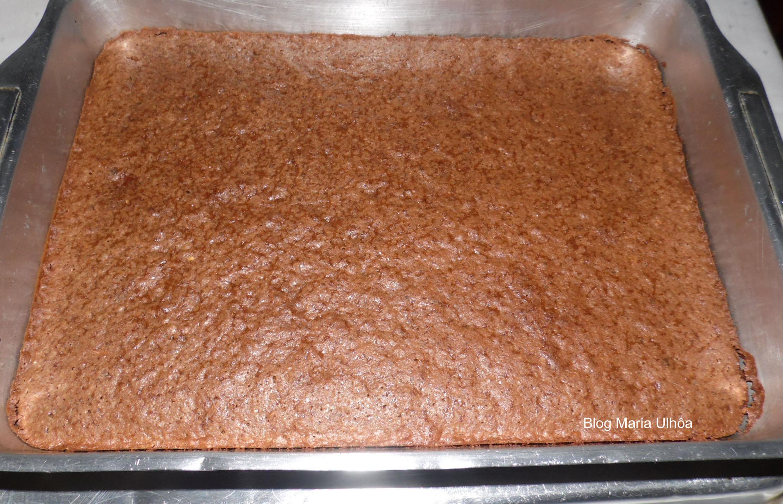 Brownie de aveia com amendoim