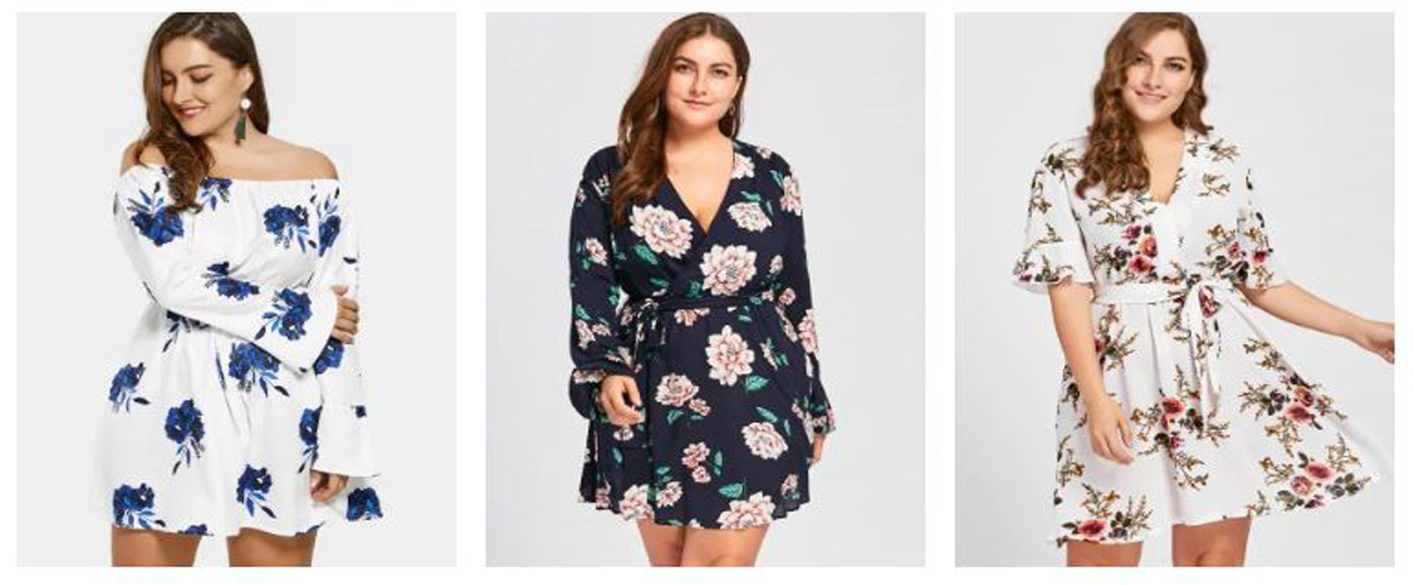 Vestido Plus Size - Zaful